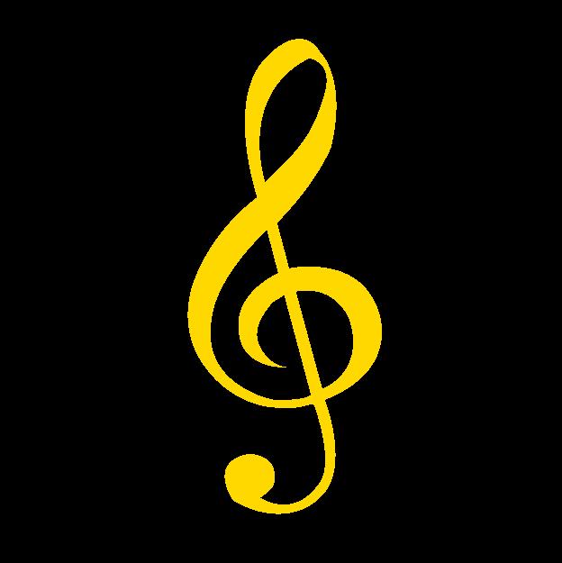 黄色のト音記号