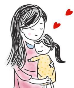 保育士と子供のイラスト