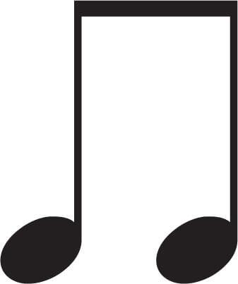 8分音符2つのイラスト