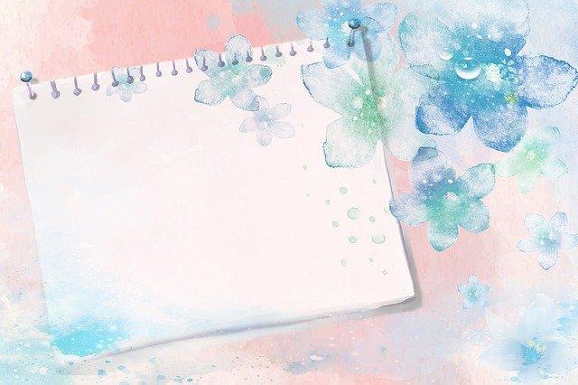 紙と花のイラスト