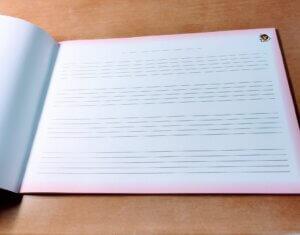 音楽ノート4段5線